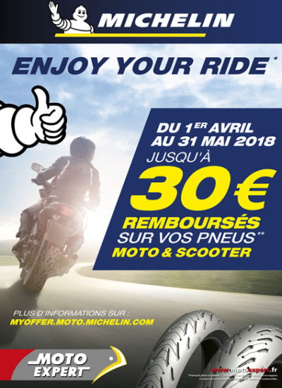 PNEUS MICHELIN - 1 avril au 31 mai 2018