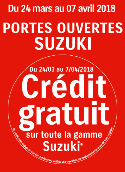 PO + CREDIT GRATUIT - SUZUKI MARS 2018